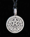 Ornate Gothic Celtic Pentacle Pewter Necklace