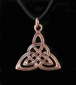 Celtic Triquetra Casting in Bronze . Stunning Intricate Pendant