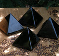 Jet Pyramid . Black Amber . Absorbs Negative Energy, Protection Against Psychic Attacks and Evil, Auric Clearing