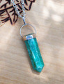 Amazonite Pendulum Necklace for Crystal Healing, Strength, Courage, Success, Love, Money, Divine Power, Balancing
