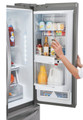 LG LFX31945ST 30.7 Cu Ft Super Capacity 3 Door French Style Refrigerator w/ Door In Door.
