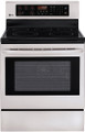 "LG LRE3023ST 30"" Electric Radiant Cooktop Range Convection Bake Broil, Stainless Steel"