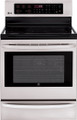 "LG LRE3025ST 30"" Electric Radiant Cooktop Range Convection Bake Infrared Broil, Stainless Steel"