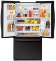 LG LFX25978SB Ultra-Large Capacity 3 Door French Door Refrigerator with Ice & Water, Smooth Black