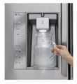 LG LMX31985ST 31 Cu.Ft. 4 Door French Door Refrigerator with Double Freezer Drawers , Stainless Steel