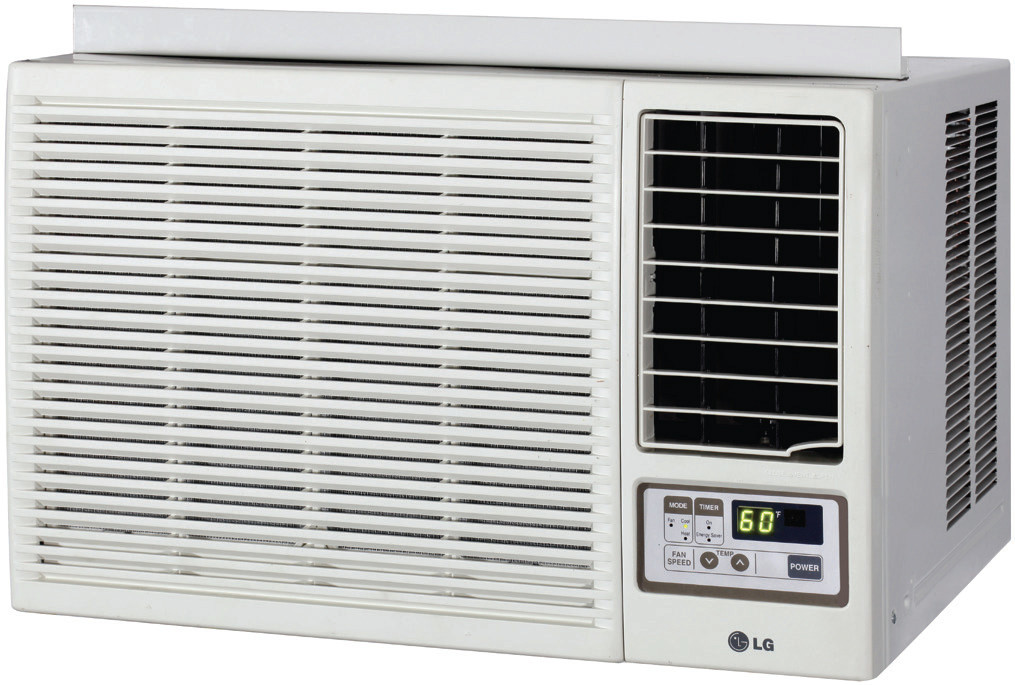 Lg lw2414hr 23 500 btu window air conditioner with heating option and