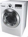 LG DLEX3070W 7.3 cu. ft. Electric Steam Dryer, SteamSanitary, Smart Diagnosis