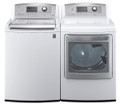 LG WT5070CW 4.7 cu. ft. Top Load Washer W/ Waveforce, Coldwash / DLGX5171W 7.3 Cu. Ft. Gas Steam Dryer-White