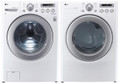 LG WM2250CW 3.6 cu. ft. Front Load Washer 6 Motion Technology / DLE2250W 7.1 Cu. Ft. Electric Dryer Set -White
