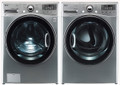 LG Washer WM3470HVA TurboWash ColdWash 6Motion Steam 4.0 Cu. Ft. / DLEX3470V 7.3 Cu. Ft. Electric Dryer-Graphite Steel