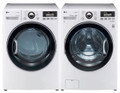 LG WM3470HWA 4.0 cu. ft. Front Load Washer 12 Washing Program, Coldwash/SteamFresh/Allergen Cycle / DLEX3470W 7.3 Cu. Ft. Electric Dryer Set