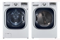 LG WM4070HWA 4.3 cu. ft. Ultra Large Capacity TurboWash Washer / DLGX4071W 7.4 Cu. Ft. Gas Steam Dryer-White
