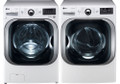 LG WM8000HWA 5.2 cu. ft. Mega Capacity TurboWash Washer / DLGX8001W 9.0 Cu. Ft. Steam Gas Dryer Set-White