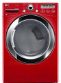 LG DLEX3250R 7.3 Cu. Ft. Electric Steam Dryer, Sensor Dry in Wild Cherry Red
