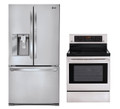 LG LFX31945ST, LRE3083ST Door-in-Door Refrigerator and Oven Range Set