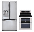 LG LFX31945ST, LDE3017ST Door-in-DoorRefrigerator and Oven Range Set