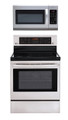 LG LRE3083ST, LMH2016ST Oven Range & Over the Range Microwave Set