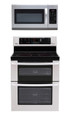 LG LDE3035ST, LMH2016ST Oven Range & Over the Range Microwave Set