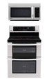 LG LDE3035ST, LMV1813ST Oven Range & Over the Range Microwave Set