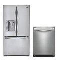 LG LFX31945ST, LDF7551ST Door-in-Door Refrigerator & Dishwasher Set