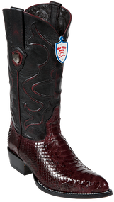 Wild West Python Mens Brown Boots J-Toe 2995707