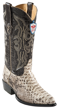Wild West Natural Python Boots J-Toe 2995749