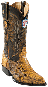 Wild West Python Mens Western Boots Buttercup J-Toe