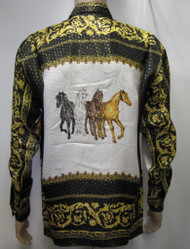 Four Horses Silk Shirt