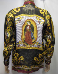 Virgin Mary - Our Lady Of Guadalupe Silk Shirt Baroque Silk Shirt