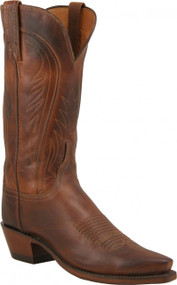 Lucchese Since 1883 Womens Tan Burnished Ranch Hand Cowgirl Boots N4604
