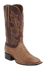 Lucchese Since 1883 Mens Western Shiloh Tan Caiman Belly M2679