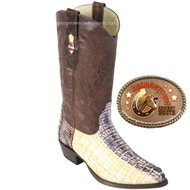 Caiman Tail Natural Finish Los Altos Boots 990149