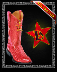 Caiman Tail Red western Boots