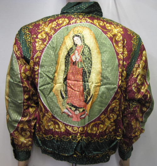 Our Lady Of Guadalupe Virgin Mary Silk Bomber Jacket
