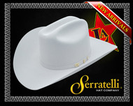 Sserratelli Western Hat Platinum color