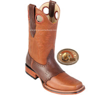 Rodeo Square Toe Los Altos Boots 8143851-Honey and Brown color