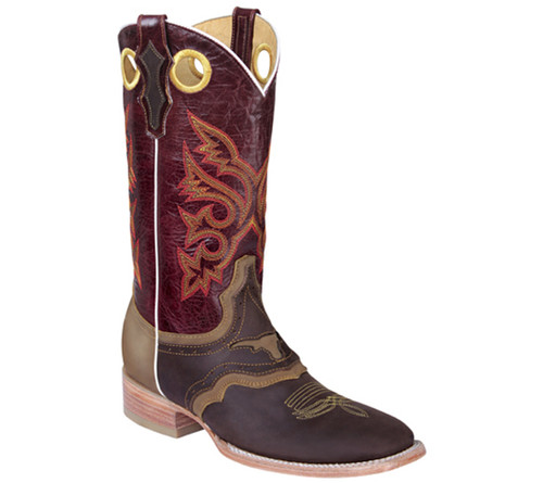 Brown/Burgundy Western Boots