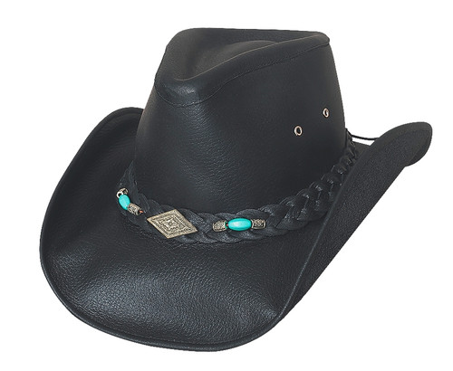 Bullhide Hat - 4048BL Top Grain Leather Royston style