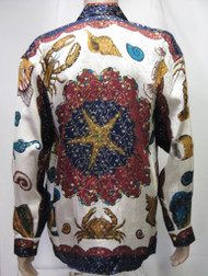 Star Fish,Crabs,Lobster and more Silk Shirt