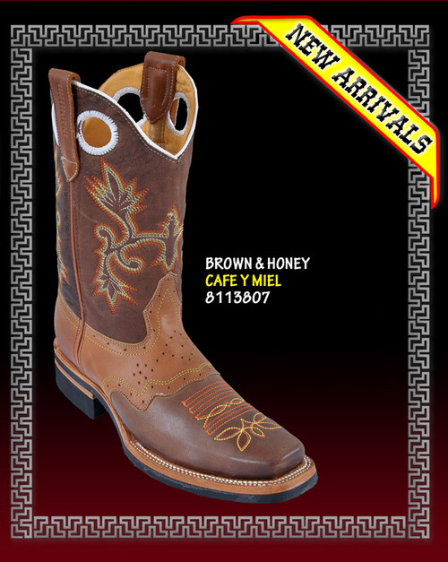 Rodeo Saddle Cowboy Western Boots COLOR: BROWN / HONEY  STYLE: 813807