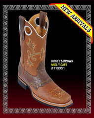 Rodeo Cowboy Western Boots COLOR: HONEY / BROWN  STYLE: 819951
