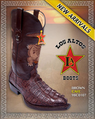 Big Caiman Tail Western Boots,Brown Los Altos Boots, Style : 980107