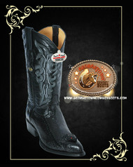 Cobra Snake Head Cowboy Boots Black 996405