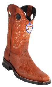 Wild Rodeo Square Toe Shark Boots Cognac Shark w/Rubber Soles Style;282CH9307