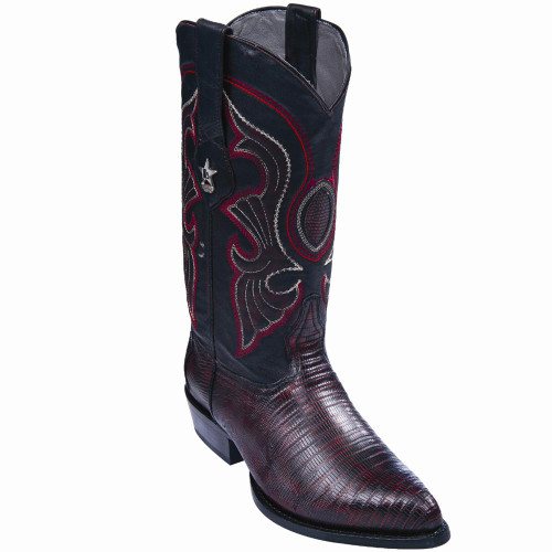 LIZARD MEN'S WESTERN COWBOY BOOTS,BLACK CHERRY by LOS ALTOS BOOTS ...