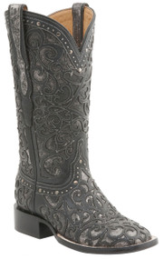 Womens Lucchese Since 1883 Western Black And Pewter M4844