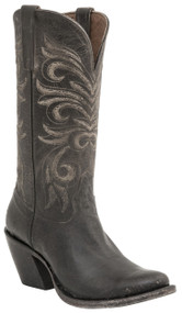 Lucchese Since 1883 Womens Western Boots Laurelie Anthracite Distressed Goat Leather M4650