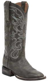 Lucchese Since 1883 Womens Western Boots Coralee Black Distressed Cowhide Leather M4901
