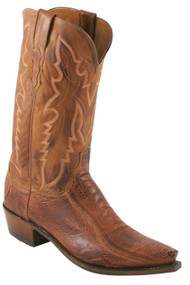 Lucchese Heritage Mens Brandy Matte Ostrich Leg Cowboy Boots N1121