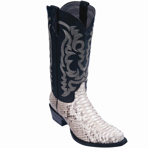Exotic Python Western Boots Natural Color 945749 Los Altos